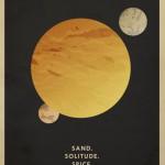 Minimalistische Wüstenplanet-Poster
