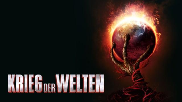 Eine Art Banner für den Krieg der Welt Film auf dem eine gigantische Kralle den Planeten Erde im Griff hat