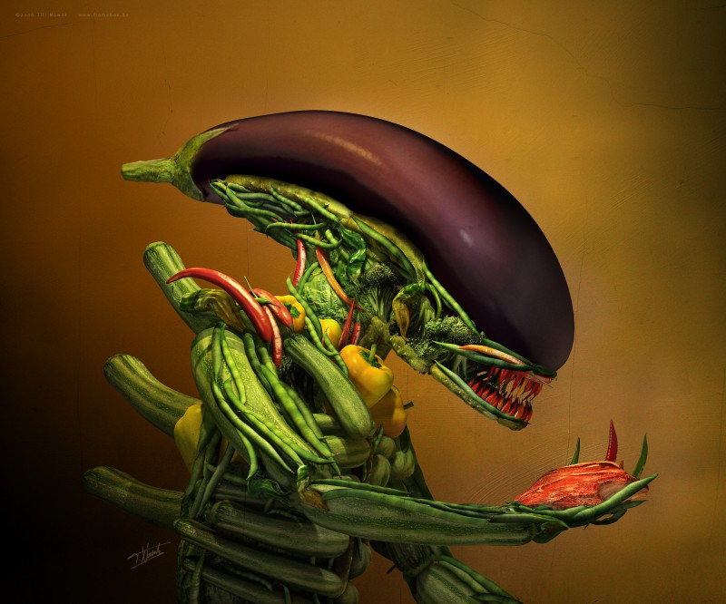 Gemüse-Alien aka Salad von Till Nowak